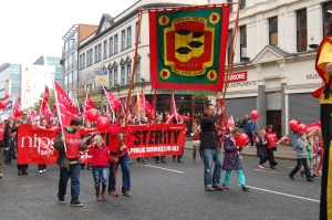 Belfast Trade Unions demonstrate against Austerity