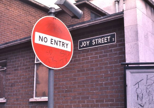 No_Entry_to_Joy_Street_in_Belfast,_Northern_Ireland,_1974