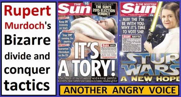 Sun Scotland England Tory SNP divide and conquer