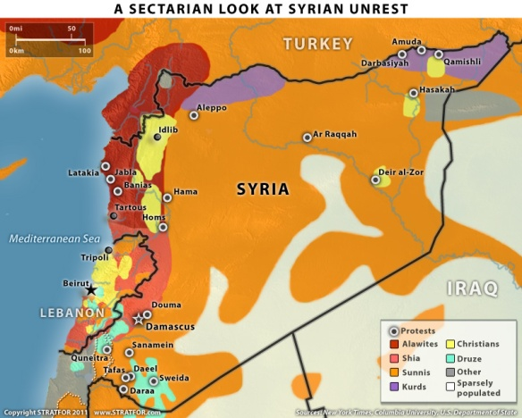 Sectarian STRATFOR Map of Syria